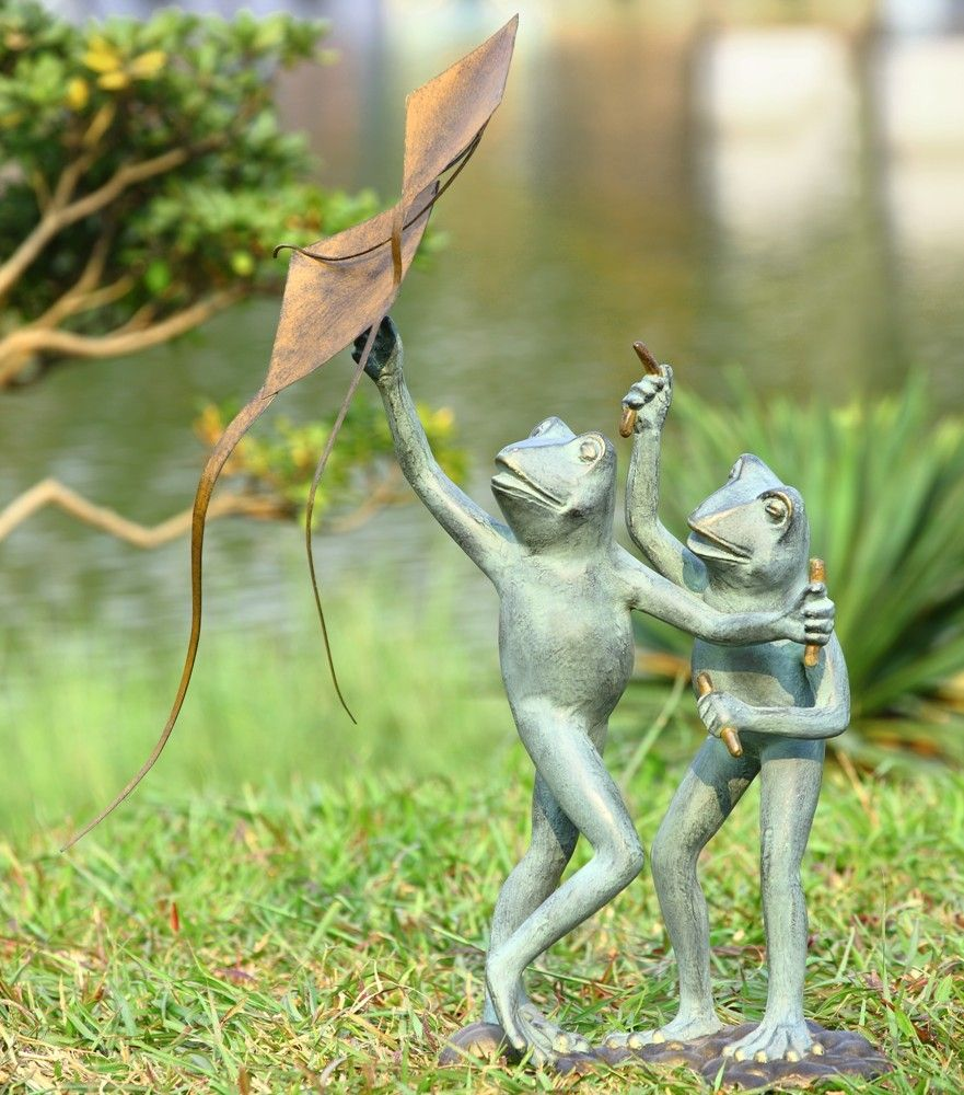 Home | Garden statues, Frogs and Kites