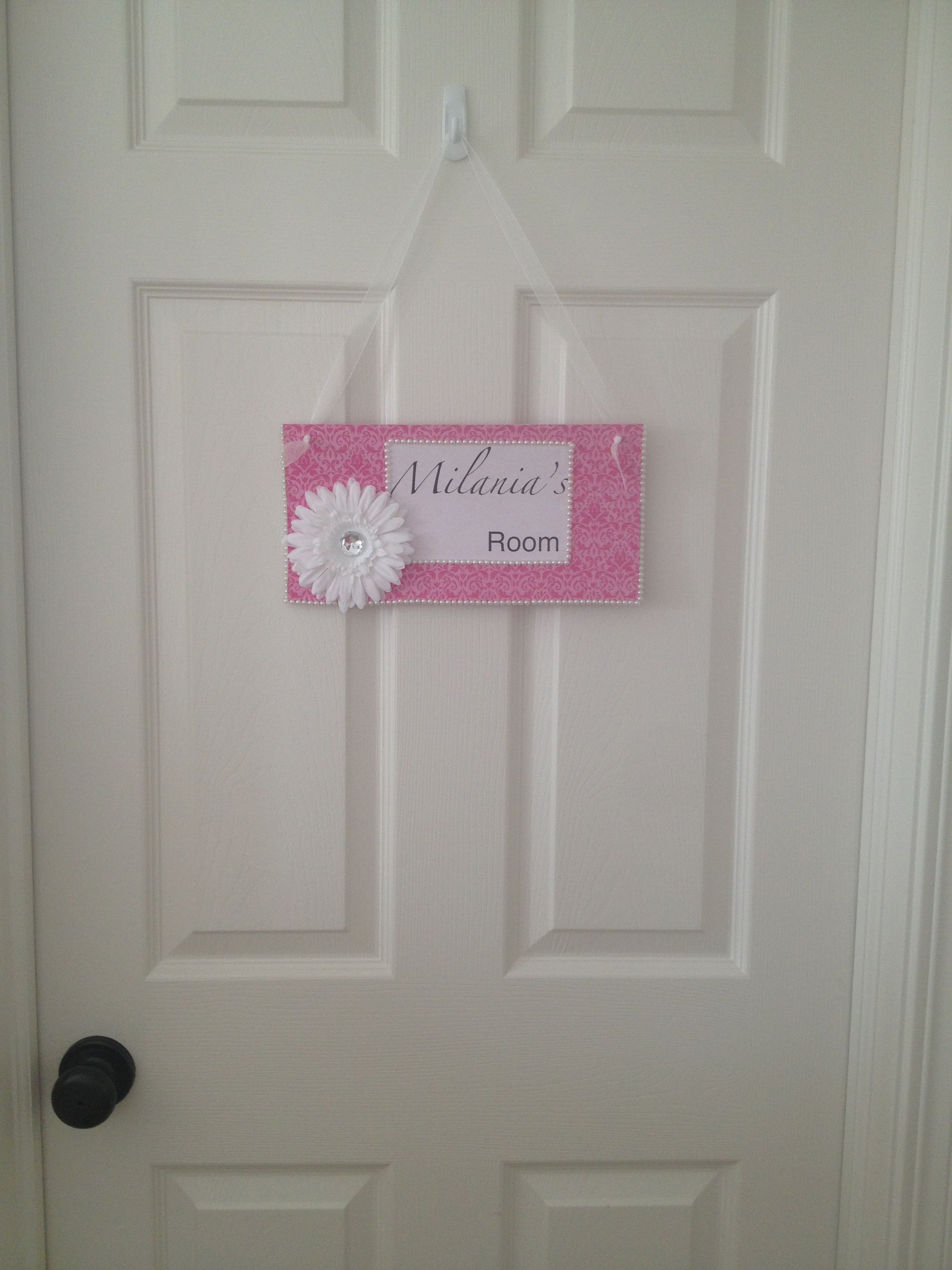 DIY bedroom door sign My home and projects Pinterest