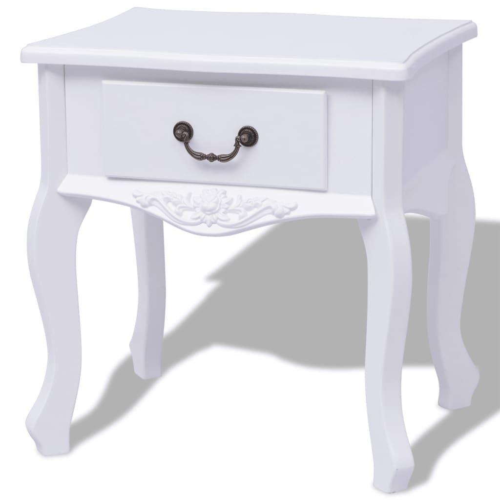 ZNTS Bedside Cabinets 2 pcs MDF White 242750