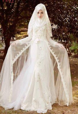 Contoh Baju Pengantin Muslim Modern Gaun Gaun Pengantin