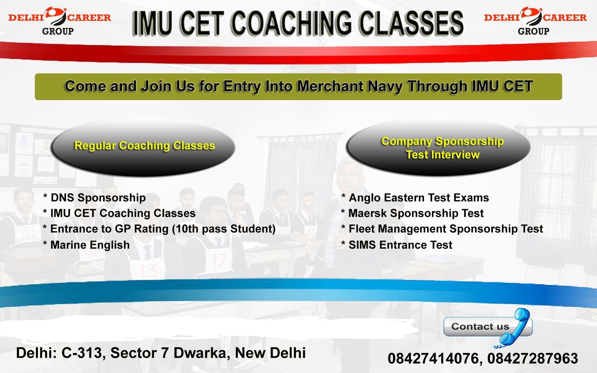 IMU CET Coaching in Delhi Coaching institute in delhi