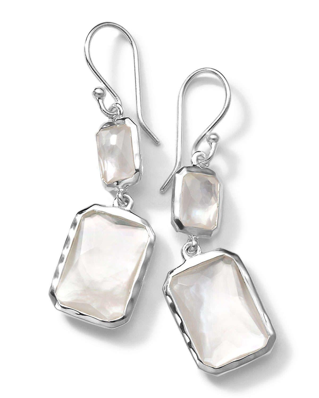 Ippolita Sterling Silver Wonderland Rectangular Mini-Drop Earrings V2Wo63