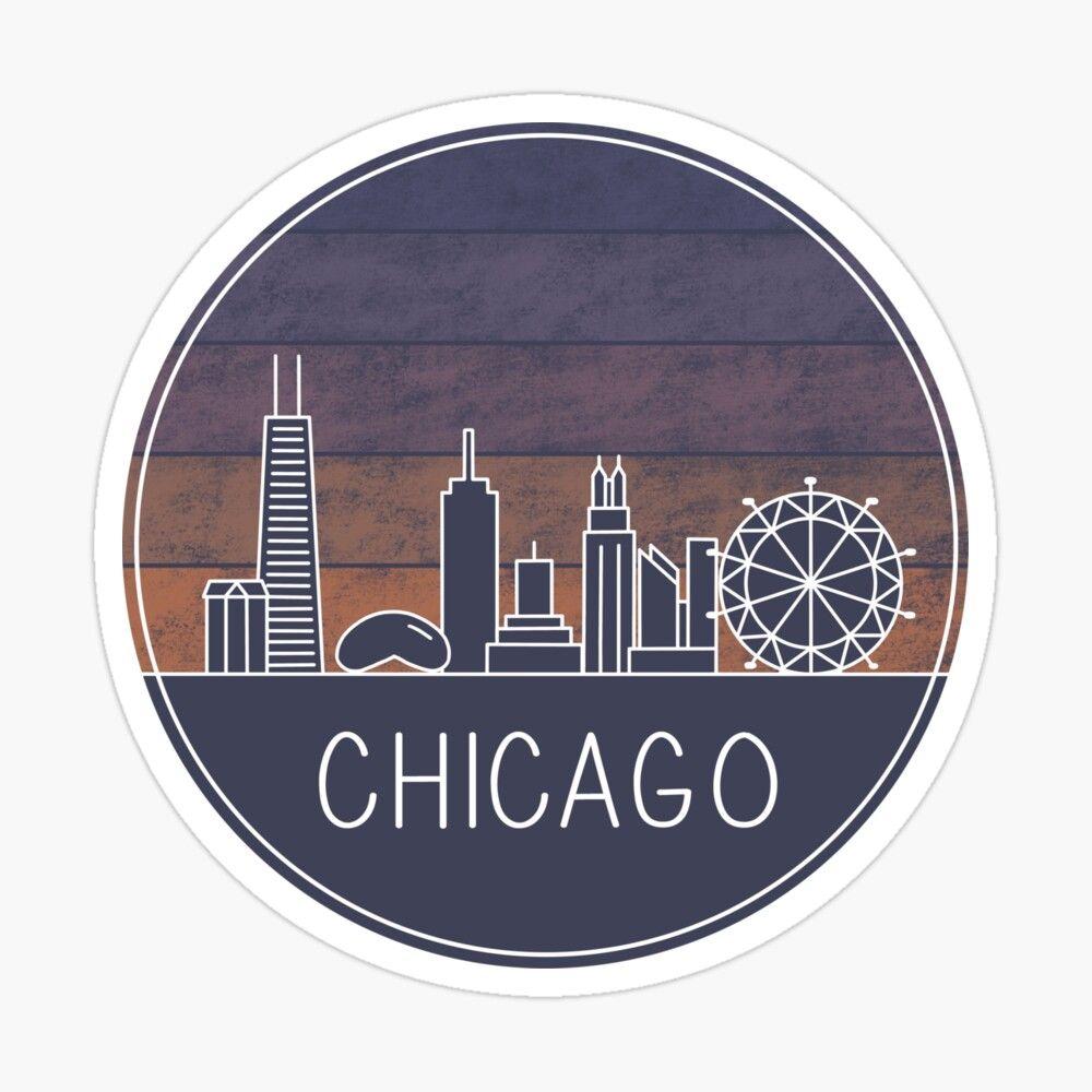 Chicago City Skyline Macbook Decal Macbook Decal Stickers Macbook Decal Mac Decals [ 1280 x 1280 Pixel ]