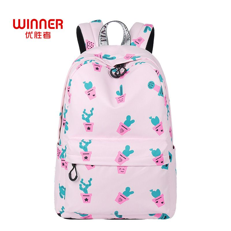 Find More Backpacks Information about WINNER Waterproof Polyester Women  Backpack Cactus School Bag Cute Printing Girls 9d0e1e99abe0e