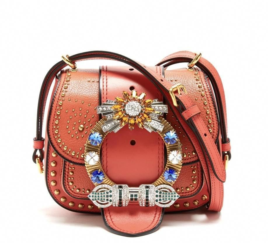 76a35734dfe8 Miu Miu Coral Dalia Embellished Bag #MiuMiu | Miu Miu | Pinterest ...