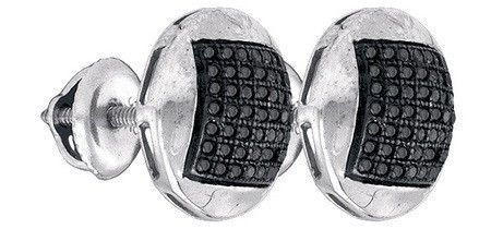 Sterling Silver 0.33CT-DIA MICRO-PAVE EARRING