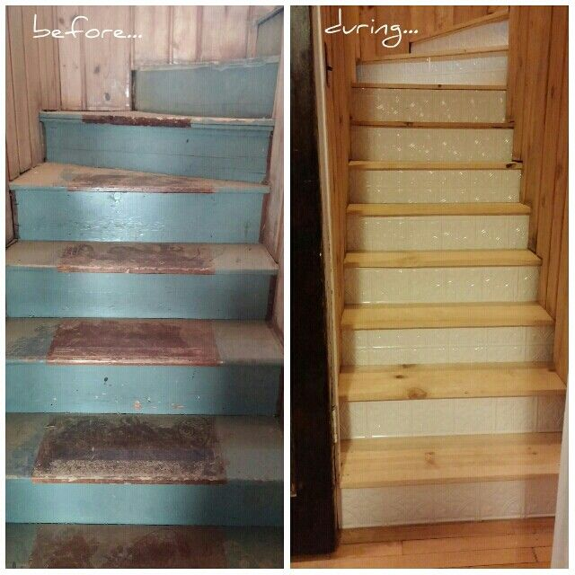 Staircase Remodel: Revamped Stair Treads And Risers. PS Dear Menards: Thank  You For