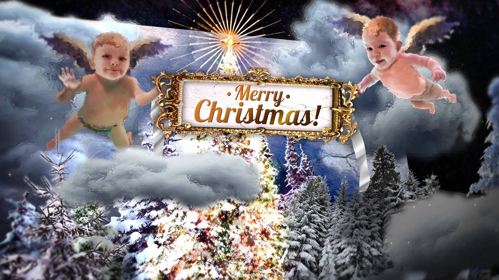 Christmas Angels Pop Up Card After Effects Template Project Christmas Angels Very Merry Christmas Christmas