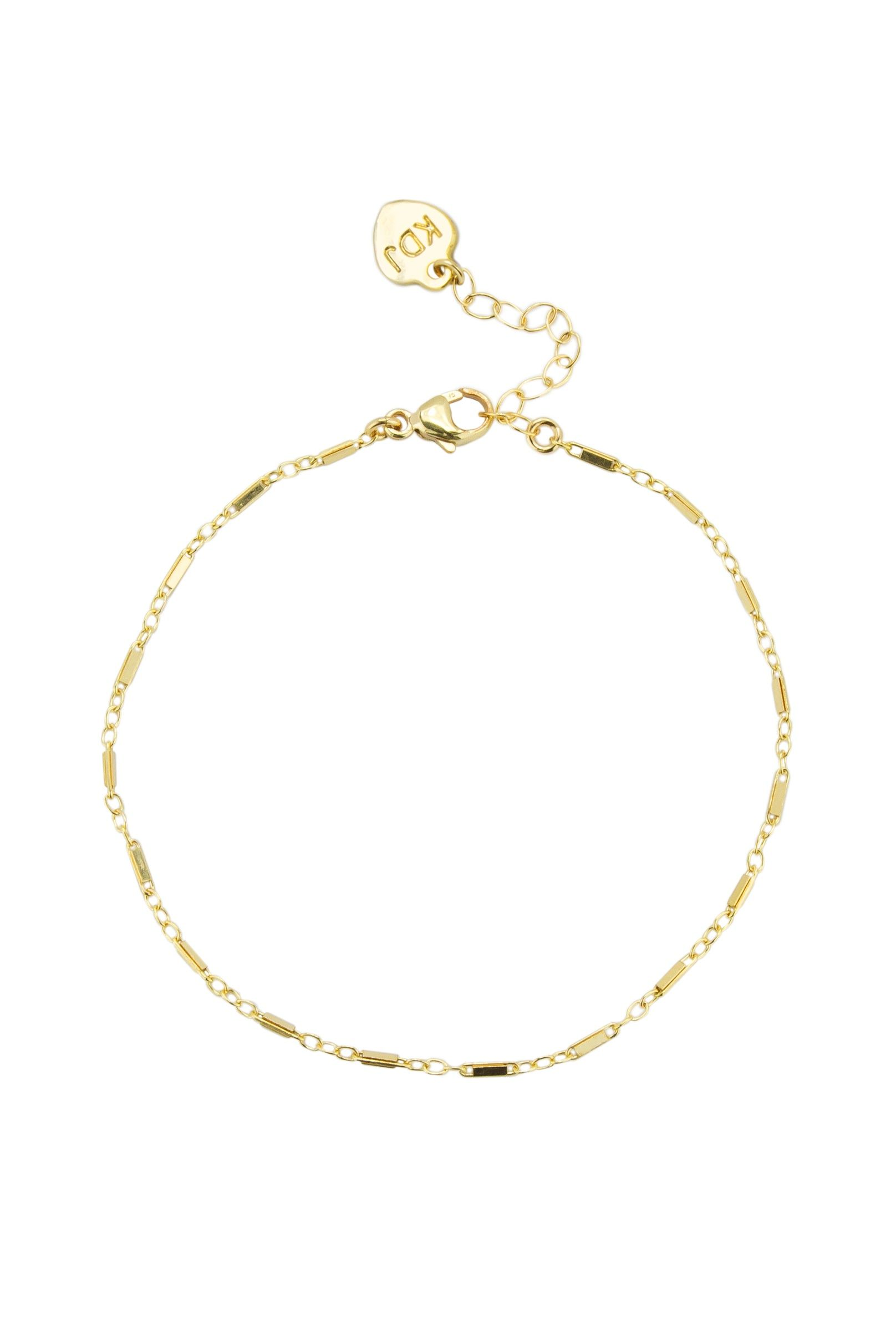 linked plated cz gold silver basic default bracelet round sterling new