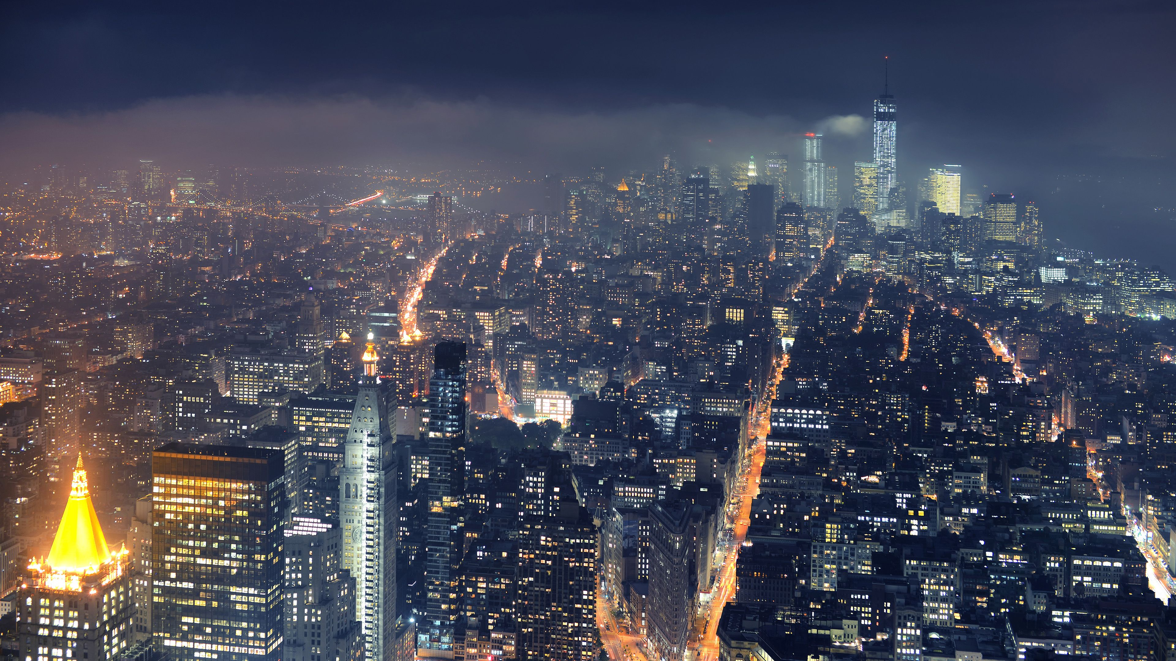 Iconic View Of The New York City Ultra Hd Wallpaper Nyc Skyline City Wallpaper New York Cityscape