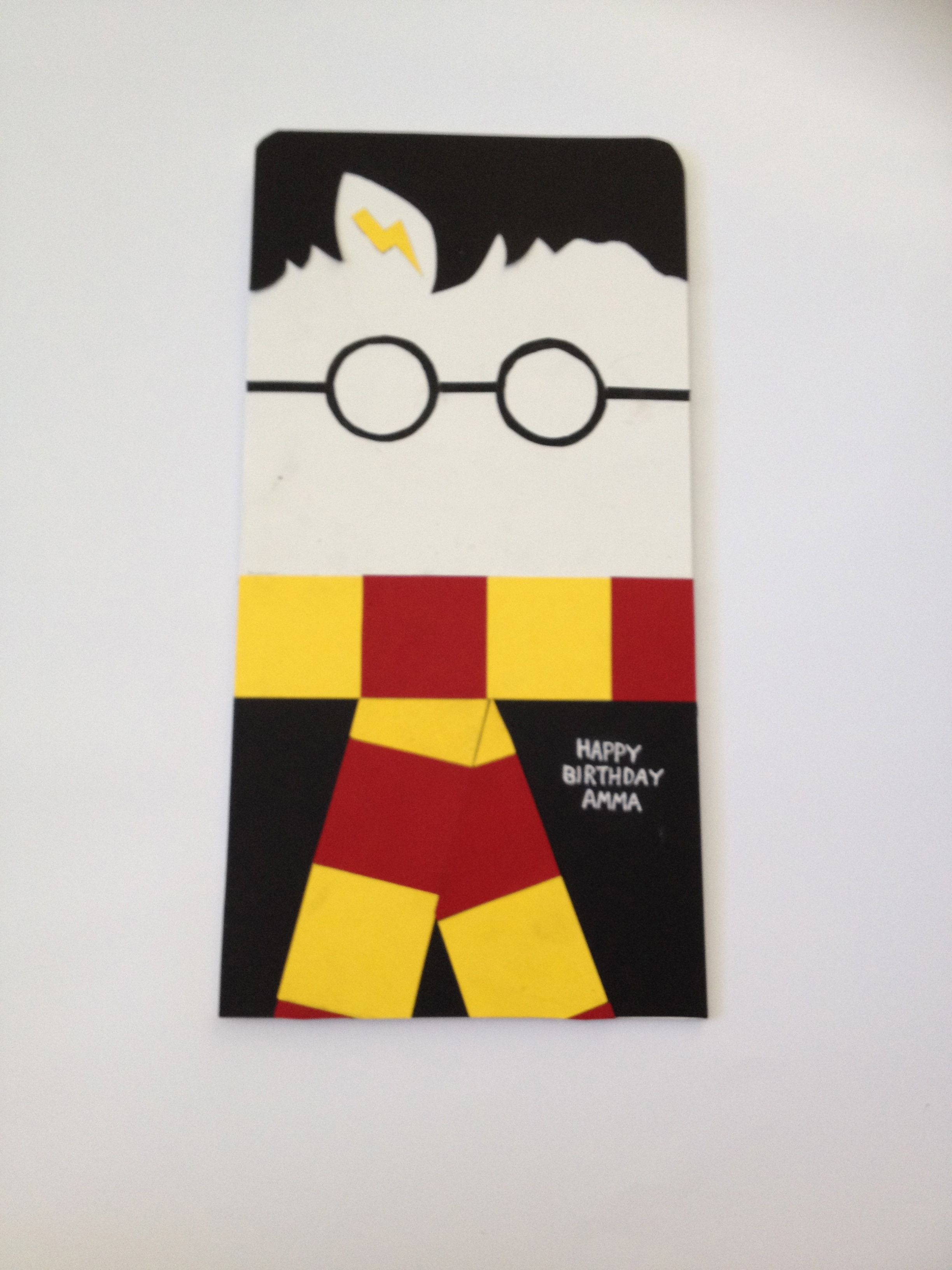 Harry Potter Birthday Card Acards I Love Pinterest