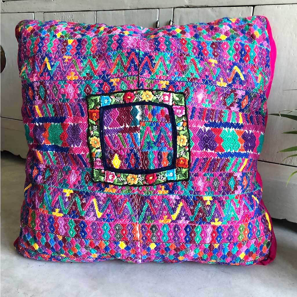 Mayan huipil floor cushion dog bed or meditation pillow products