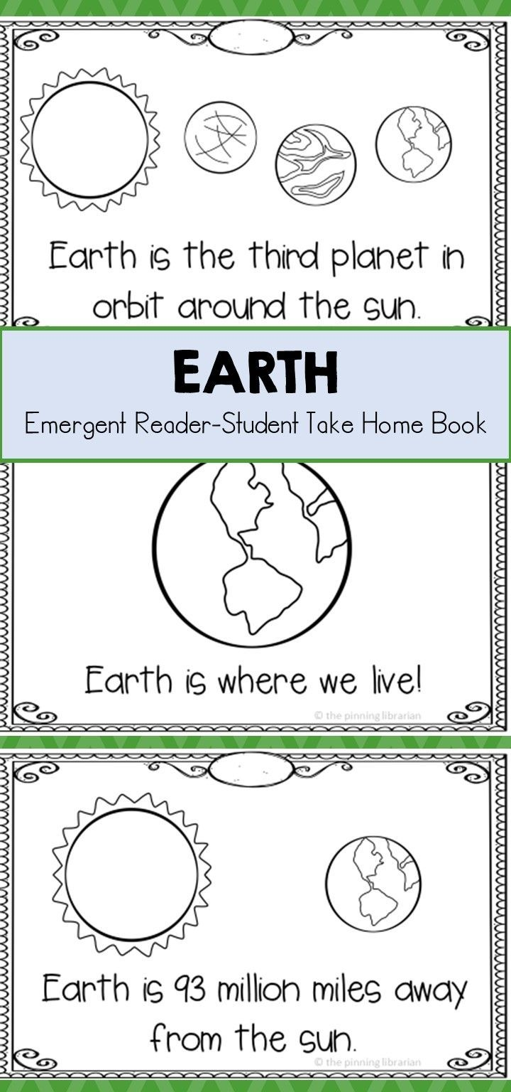 Earth Emergent Reader Fun Facts About Earth Emergent Readers Earth For Kids [ 1536 x 720 Pixel ]
