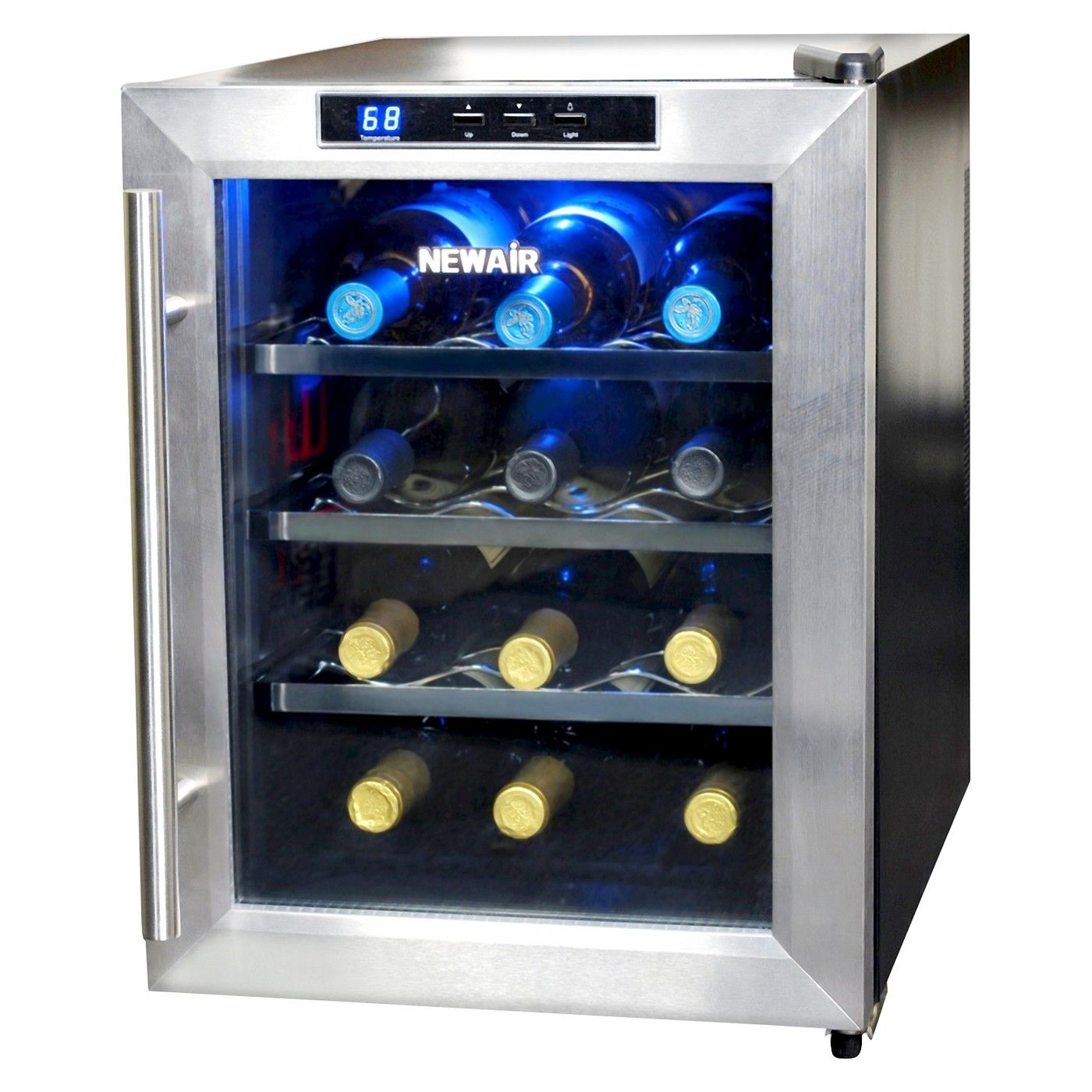 Newair 12 Bottle Countertop Thermoelectric Wine Cooler Stainless Steel Aw 121e Thermoelectric Wine Cooler Wine Refrigerator Wine Fridge