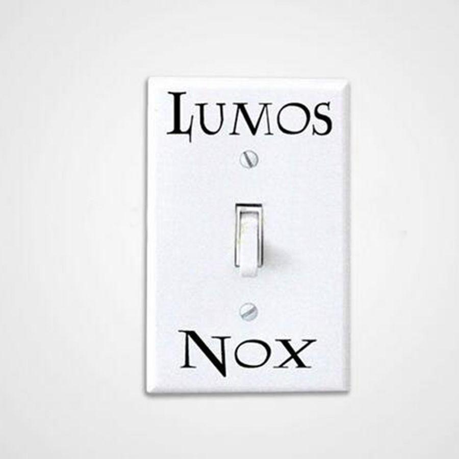 3 Pcs Set Harry Potter Lumos Nox Light Switch Sticker Light Switch Sticker Lumos Nox Light Switch Decal