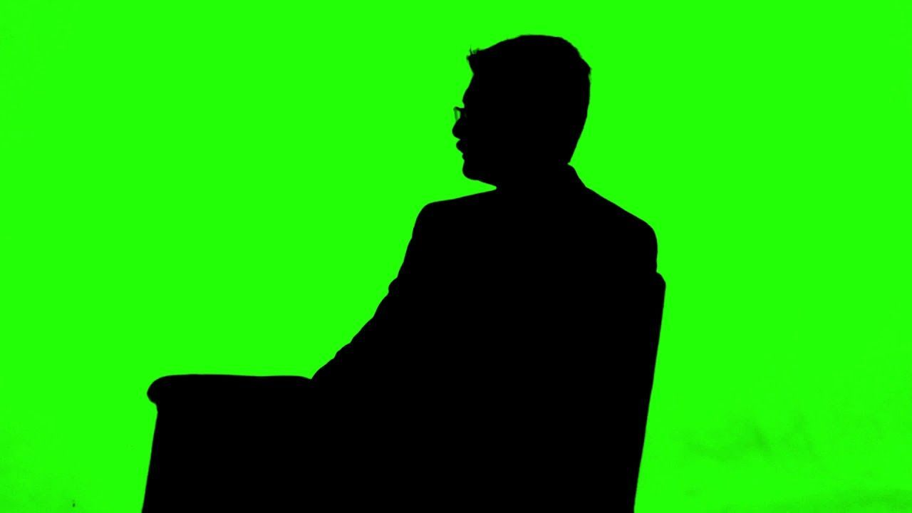 Man Sitting In Chair Silhouette Royalty Free Footage Green Screen Footage Smoke Animation Greenscreen