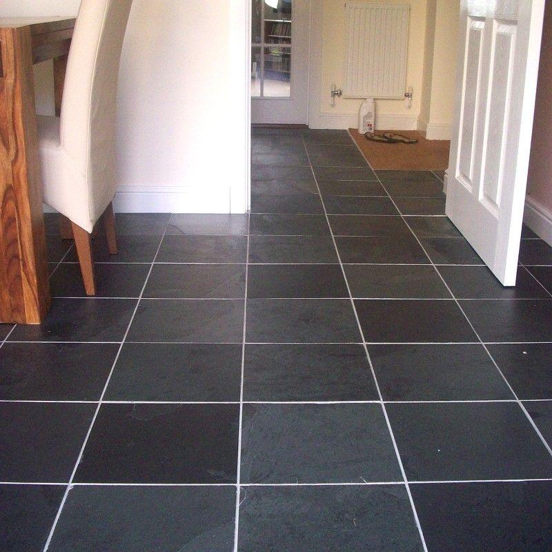 Black Calibrated Riven Slate Tiles
