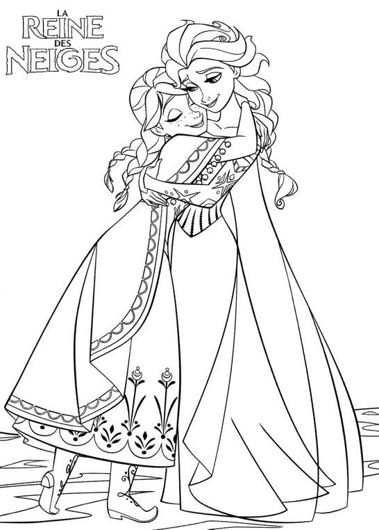 Coloriage Princesse A Imprimer Reine Des Neiges.Coloriage Princesse Anna A Colorier Dessin A Imprimer Coloriages