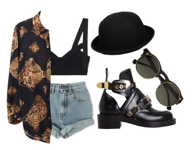 """feisty"" by v4ndaleyes ❤ liked on Polyvore featuring Levi's, Carven and Balenciaga"