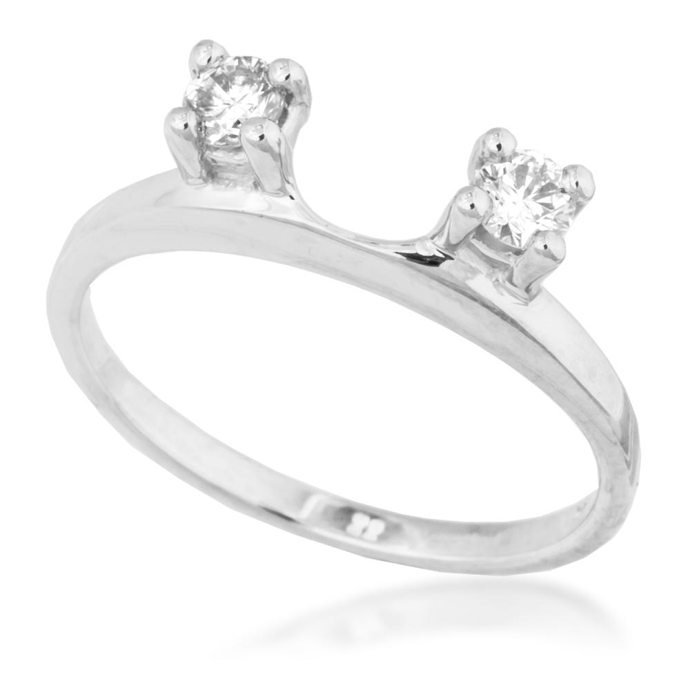 Ladies Diamond Wedding Wrap in White Gold -Price: $550