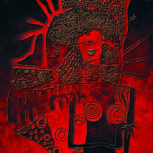 Cód 1023 AT - Artista: Edson Verti - Tamanho 124x124 - Técnica mista impressão digital  sobre Tecido