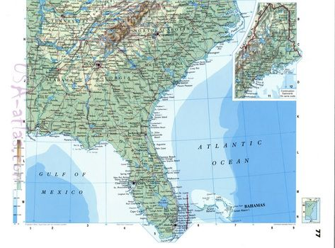 Road map of USA southern states | See Rock City and Other ...