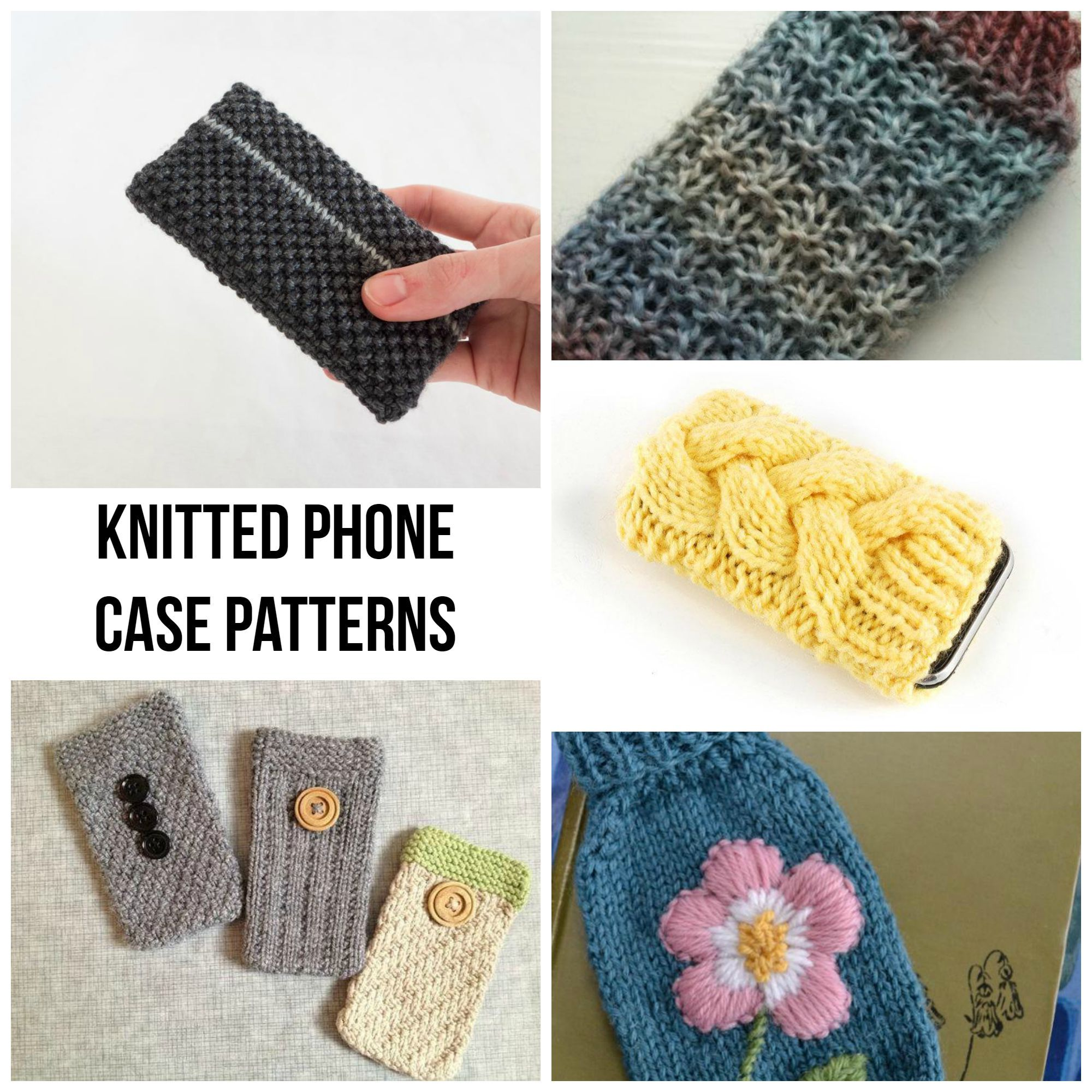 Quick Knitted Phone Case Patterns - Craftsy | Tejido y Accesorios