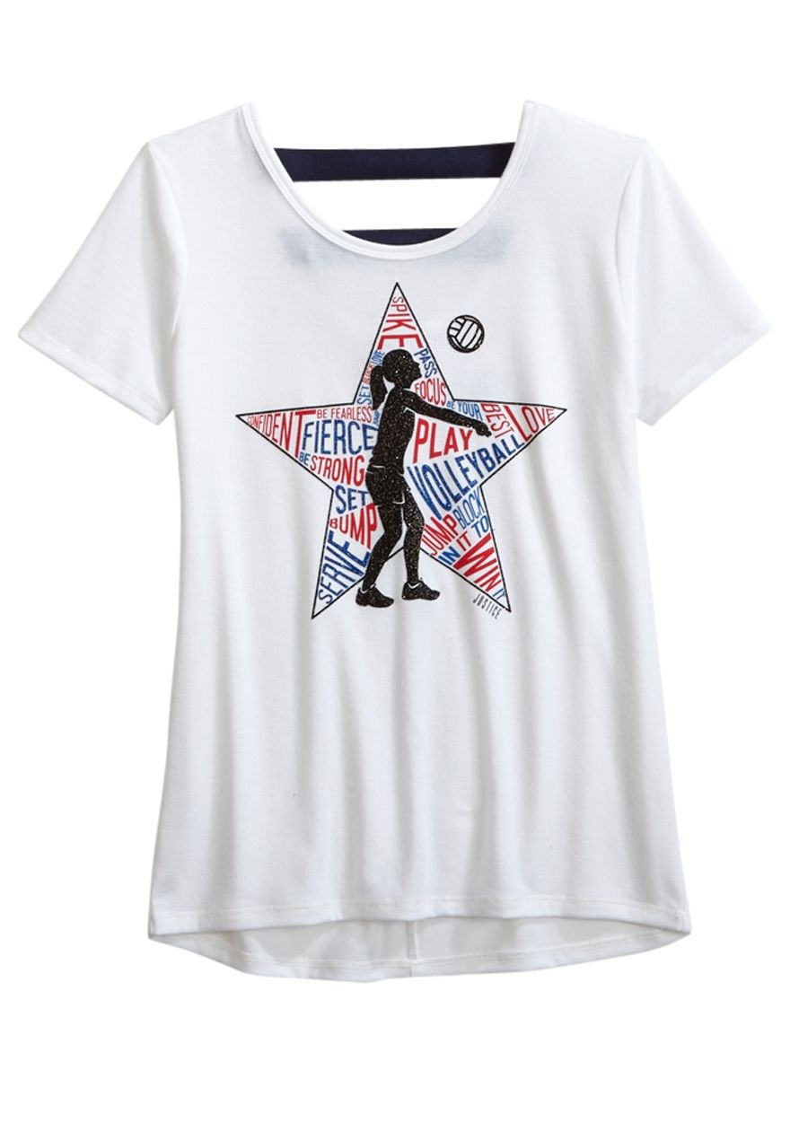 Sports Tee Original Price 24 90 Available At Justice Tween Outfits Girls Outfits Tween Cool Outfits
