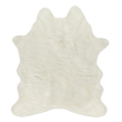 Luxe Faux Fur Faux Cowhide 4 3 Quot X 5 Tufted Area Rug In