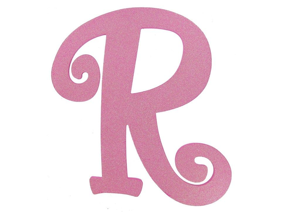 11 12 Hot Pink Glitter Letter