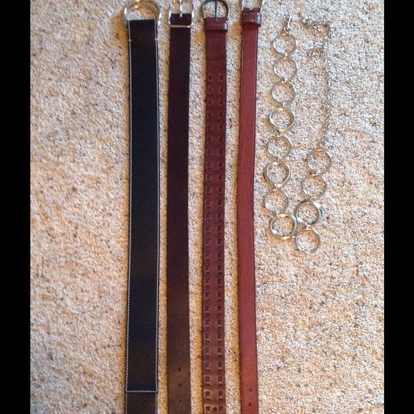 LEATHER BELTS All leather size S and M    ( all 4 ) Accessories Belts