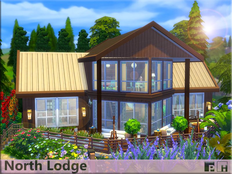 Wooden Recluse Thats Just Waiting For Your Nature Loving Sim Family Set In Beautiful Surroundings With Large Wind Sims 4 Houses Sims House Design Sims House