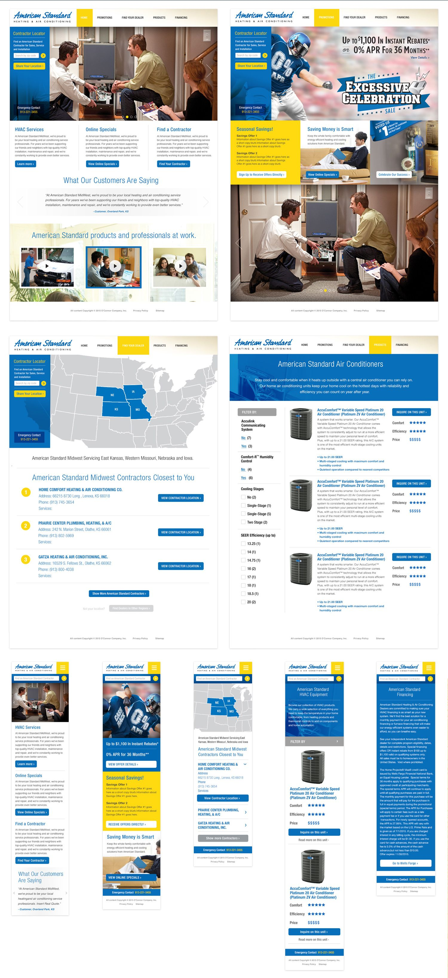 Responsive & Digita Design, Wireframing, Architecture for American ...
