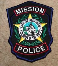 Mission Tx Pd Police Patches Texas Police Patches