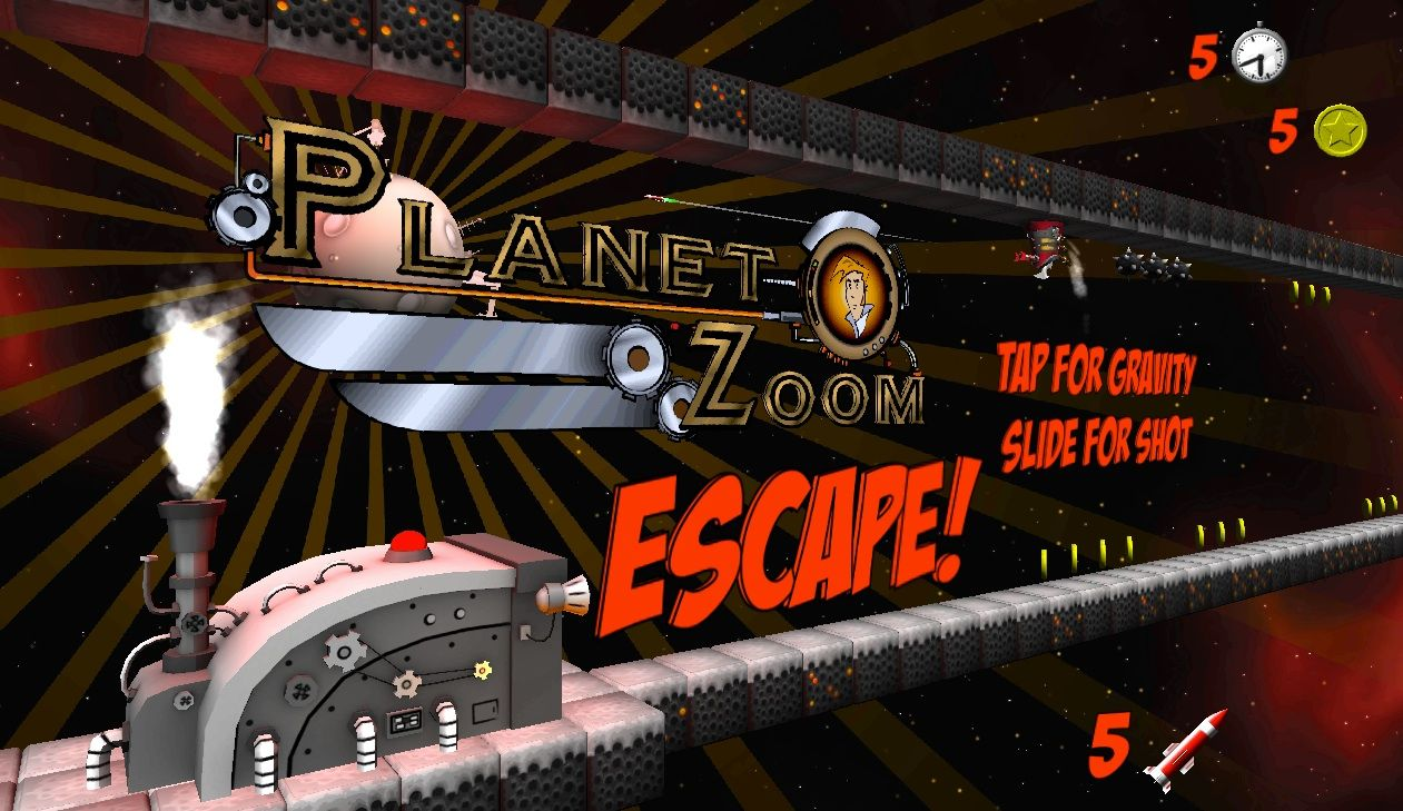 Planet Zoom Escape, a Planet Zoom runner spin-off http://bit.ly/1mnLHir #indiegames #videogames #gamesinitaly