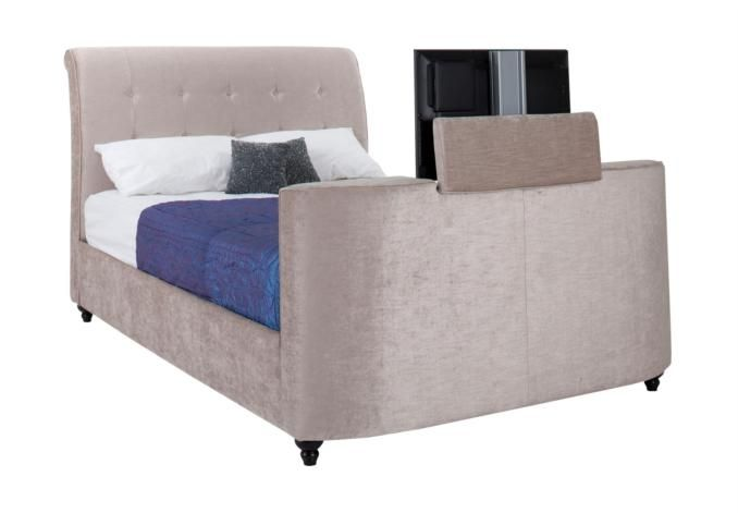 Super King TV Bed Frame With LED EXTRA 300 OFF