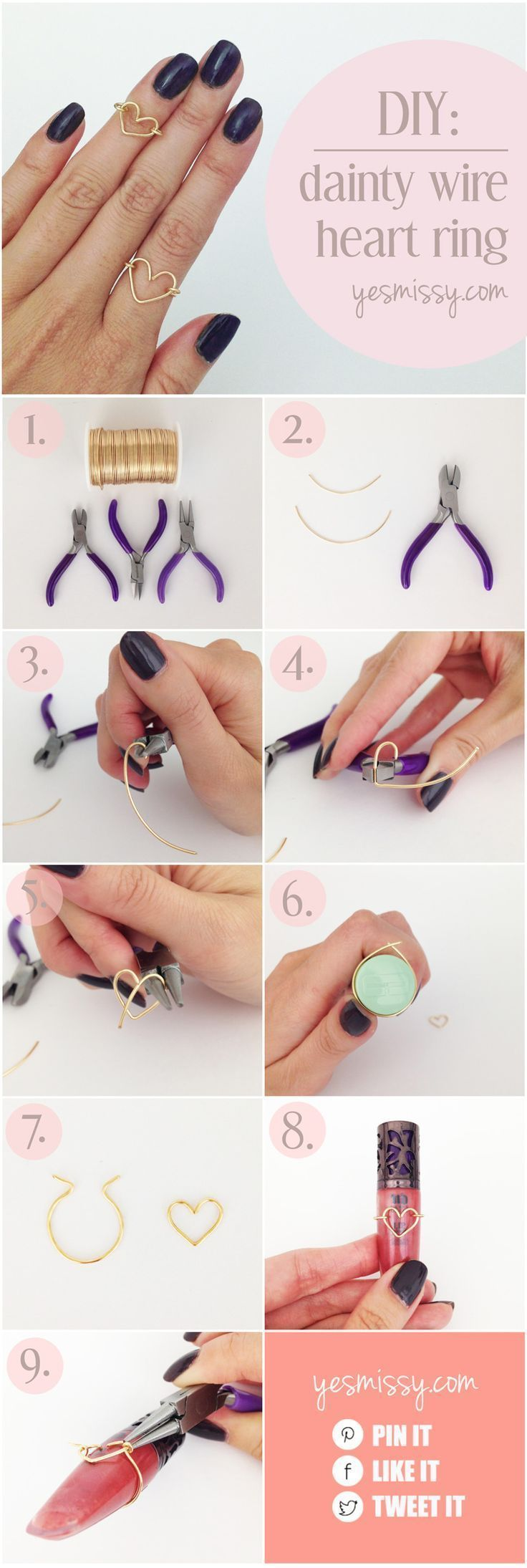 DIY Wire Heart Ring Tutorial – Schritt für Schritt Anleitung –  Super einfacher…