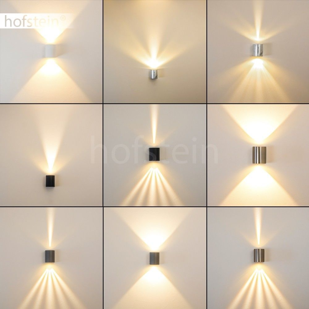 LED Aussen Wand Leuchte Terrasse Edelstahl Aussenlampe