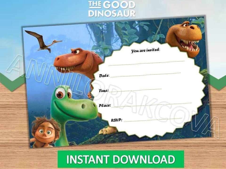 the good dinosaur invitations, instant download, dinosaur, Birthday invitations