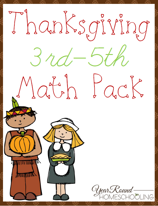 Free Thanksgiving Math Pack (3rd5th Thanksgiving math