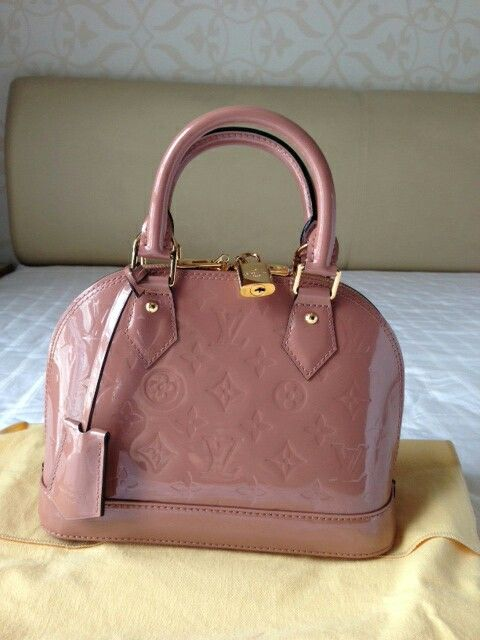 Louis Vuitton Alma Bb Monogram Vernis In Rose Velours Lv Handbags Louis Vuitton Alma Bb Louis Vuitton Crossbody Bag