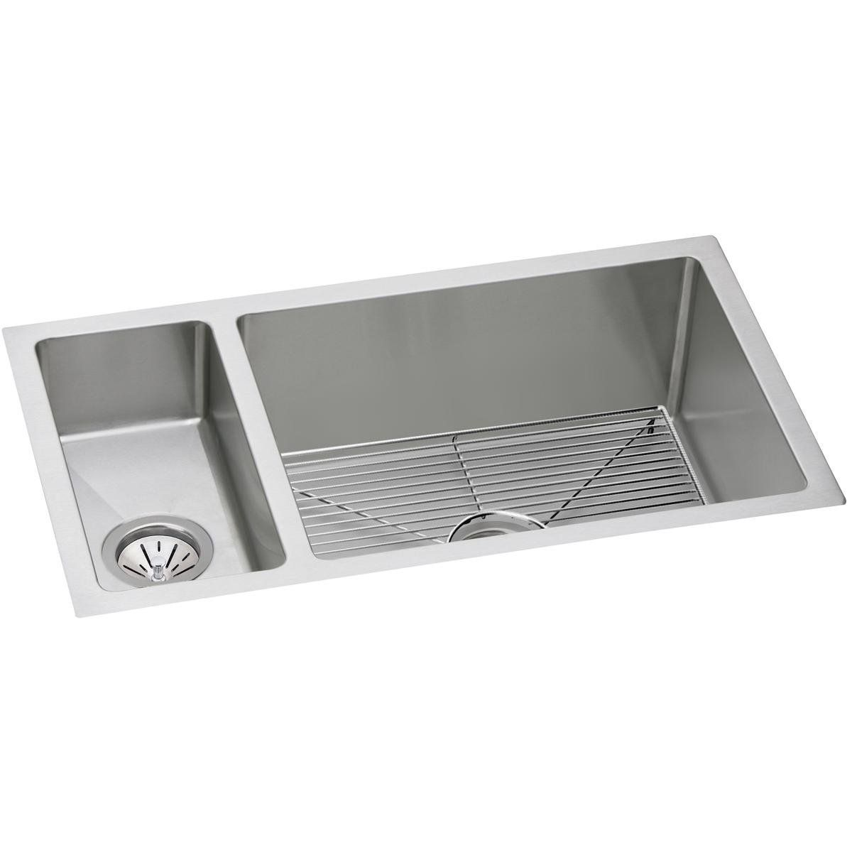 Elkay Crosstown Efru321910dbg 30 70 Double Bowl Undermount Stainless Steel Kitchen Sink Kit Amazon Com Elkay Sink Double Bowl Undermount Sink