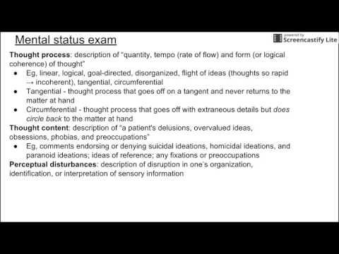 Mental Status Exam Youtube Exam Mental Status