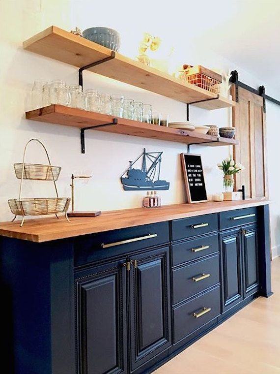 Open Shelving Brackets, Iron Shelf Bracket, Black, Steel and ...