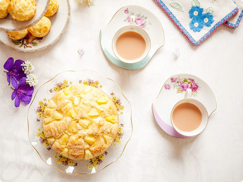 1970s tropical pineapple teacake recipe food pineapple