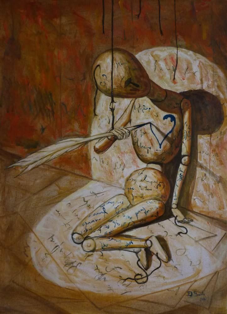 """""""The human heart is the only thing in this world that weighs more when its broken."""" art by Adrian Borda......L.Loe"""