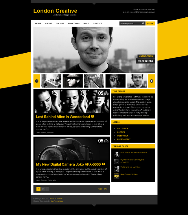 Black Website Design Template An Amazing Combination Of Black And Yellow It Has 2 Level Featured Joko