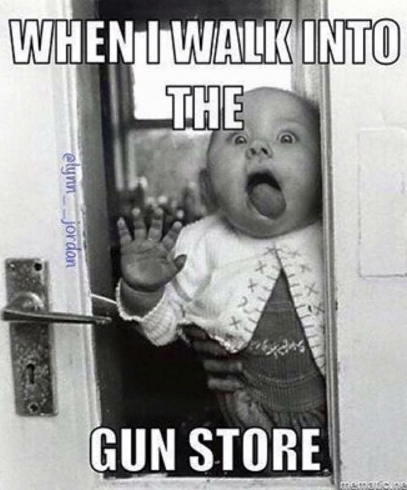 When I Walk Into The Gun Store Guns Funny Funny Pictures Lol