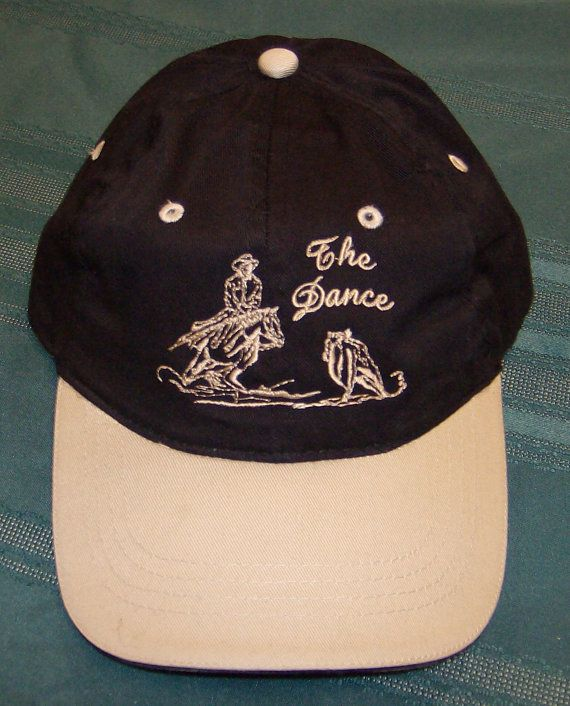 New Embroidered Cap Cutting Horse The Dance with by CowgirlsLoft ... 616692db56a2