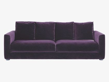 Rupert Purple Velvet 3 Seater Sofa Bed